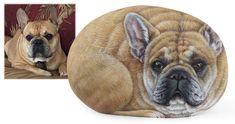 Pet Portrait Commissions   Custom Hand Painted Rocks by Roberto Rizzo   www.robertorizzoart.net #dog #dogs #paintedstones #paintedrocks #robertorizzo #fineart #art #petportrait #pets #pet #dogart #animals #handpaintedstones #paintedpebbles #etsyshop #acrylic #animals #custompaintings #paintings #giftidea #petmemorial