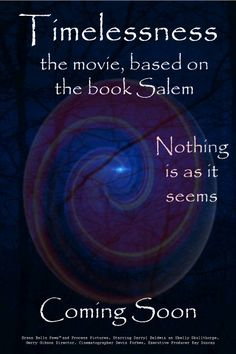 Salem, the book, is tough, intense , spontaneous--never stops--excited the book is being made into the movie Timelessness.  www.SalemtheSeries.com