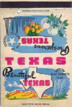 Beautiful Texas. Matchbook Cover..