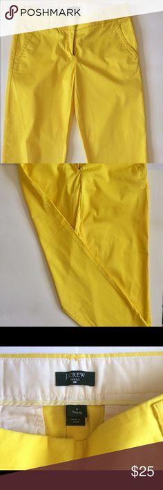 J.Crew CityFit Pants Crop ankle Excellent condition Size 0 98% Cotton 2% Spandex J. Crew Pants Ankle & Cropped