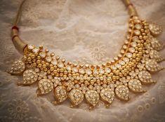 Mango Necklace with Muvvalu - Latest Indian Jewellery Designs Mango Mala Jewellery, Mango Necklace, Bridal Jewelry, Bridal Necklace, Gold Necklace, Circle Necklace, Collar Necklace, Gold Jewellery Design, Schmuck Design