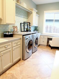 Organization for Narrow Laundry Room | ... important to choose the right type of flooring in the laundry room