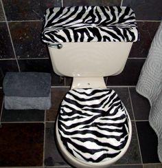 AnythingAnimals.com Animal Print Toilet Seat Covers, Zebra Seat Cover ...