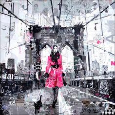 Collage Artwork: Collage Art by Derek Gores New York Girl