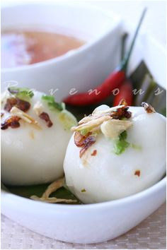 Vietnamese Sticky Rice Dumpling made with Glutenous Rice Flour.
