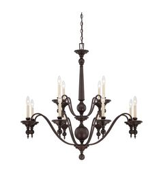 Savoy House Sutton Place 12 Light Chandelier in English Bronze 1-1728-12-13 Width: 42.00 in. Height: 40.00 in. $946