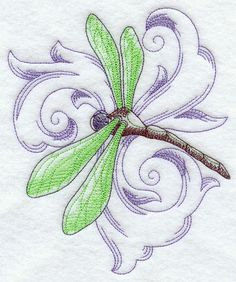 Machine Embroidery Designs at Embroidery Library! - Baroque Dragonfly 1
