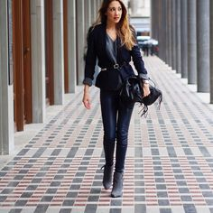 belt belted outfit street style