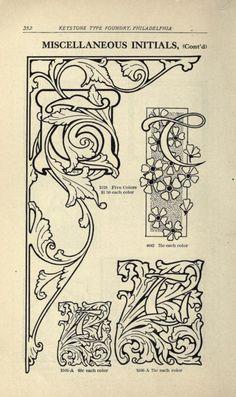 Abridged specimen book, type : nickel-alloy on . Vintage Images, Textile Design, Letterpress, The Borrowers, Embroidery Patterns, Art Nouveau, Printer, Stencils, Initials