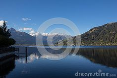 View To Zell Am See Lake Zell & Kitzsteinhorn Stock Image - Image of water, fall: 60256849 Zell Am See, Salzburg, Autumn Fall, Alps, My Images, Sunny Days, Austria, Colorful, Seasons