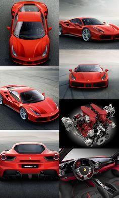 The New Ferrari 488 GTB: extreme power for extreme driving thrills - ferrari Ferrari 488 Gtb, New Ferrari, Maserati, Bugatti, Audi, Porsche, Carros Lamborghini, Automobile, F12 Berlinetta