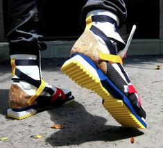 Very Cool!! -Raf Simons SS08 De Stijl Hiking Boots