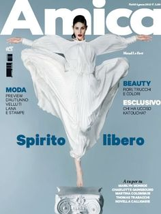 Amica italy August 2012 - On the cover of this magazine: Maud Le Fort. Inside the model dressed kocca denim backUp