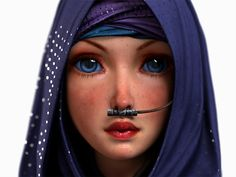 Blue Blue Rend2 by Intervain Love the tribal detail on the stillsuit tube.