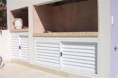 puertas parrilla aluminio - Google Search Outdoor Furniture, Outdoor Decor, Outdoor Storage, Google, Projects, Home Decor, Grilling, Doors, Log Projects