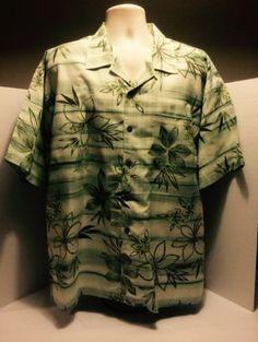 Tommy-Bahama-Relax-Short-Sleeve-Silk-Hawaiian-Button-Shirt-XL-Plummeria-Floral