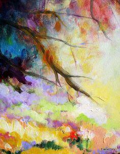 Gran paisaje pintura óleo Original 24 x 48 de por ElainesHeartsong