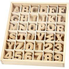 Wooden letters & numbers  Ready to decorate and by SamanthaKGifts