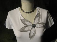 Embellished Tshirt  JEAN by Alis on Etsy, $29.00