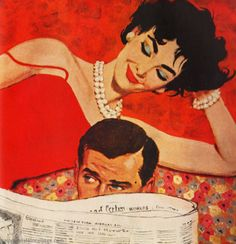 Chloé, Bonne illustration pour ta prépa !!! Over The Shoulder Reader art by Coby Whitmore