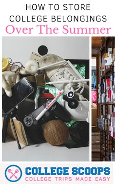 How to Store College Belongings Over the Summer Are you leaving campus for summer and you don't know what to do with your stuff? We have a solution fo College Life Hacks, College Classes, Dorm Life, College Tips, College Checklist, College Success, College Dorms, College Admission, Dorm Decorations