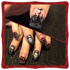 Gothic halloween by Oli123 - Nail Art Gallery nailartgallery.nailsmag.com by Nails Magazine www.nailsmag.com #nailart