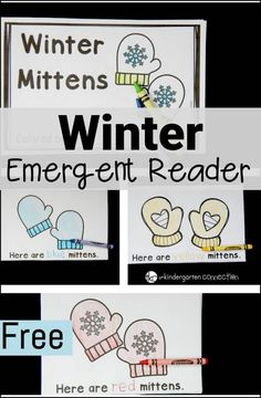 This free winter emergent reader is great for working on color words too!
