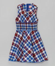 Look what I found on #zulily! Red & Blue Plaid Dress - Toddler & Girls #zulilyfinds