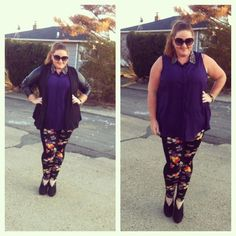 OOTD: Floral Panel Leggings - The Juicer. #ootd #asoscurve #plussize #style #fashion #lldstyle