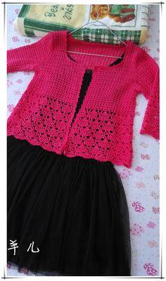 Beautiful crochet jacket, cardigan or bolero !