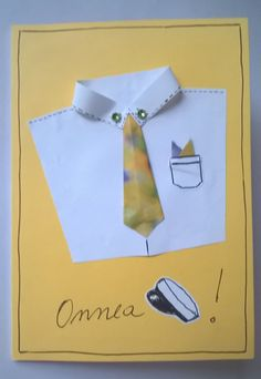 Yo-onnittelu + kravatti, keltainen
