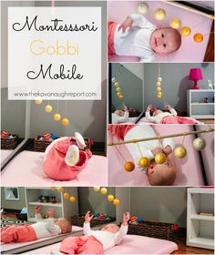 Montessori Infant Mobiles -- Visual Series. DIY Gobbi Mobile 3rd in the baby series.