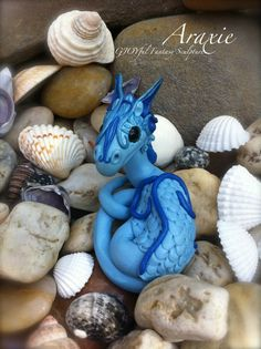 Polymer Clay Miniature WATER DRAGON