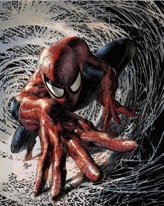 Peter Parker The Spectacular Spider-Man 1 Mike Deodato Variant Mike Deodato, Hq Marvel, Marvel Comics Art, Marvel Heroes, Comic Book Characters, Marvel Characters, Comic Books Art, Comic Art, Book Art