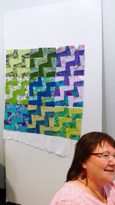 Another Fractured quilt from workshop taught at Quilting by the Lake