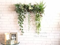 Faux Flowers, Green Flowers, Green Wall Art, Green Furniture, Succulent Wall, Happy Flowers, Interior Garden, Garden Features, Plant Wall
