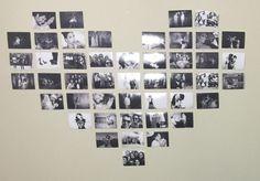 Tutorial | Coração de parede com fotografias
