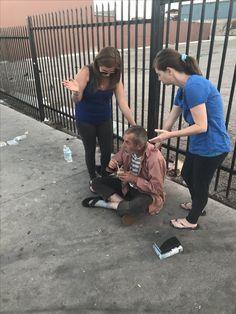 Praying for a homeless man