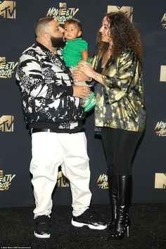 Absolutely adorable: DJ Khaled brought his fiance Nicole Tuck and their six-month-old son ...