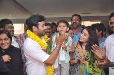 Vikram Goud with his wife and son