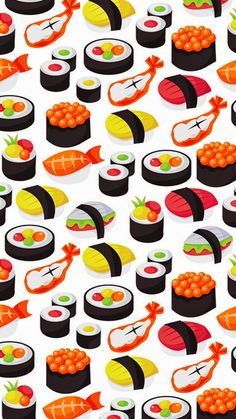 Sushi and seafood print