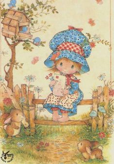 Hobby For Stay At Home Moms Simple - - Hobby Illustration Vector - DIY Hobby Projects - - Hobby For Women Holly Hobbie, Vintage Cards, Vintage Postcards, Decoupage, Writing Paper, Cute Illustration, Vintage Children, Cute Art, Cute Kids