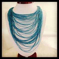 Collar azul yute !! #creatividadalmaximo