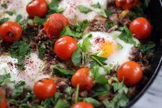 Blue Kale Road: Braised Eggs with Lamb, Tahini and Sumac: Tasting Jerusalem