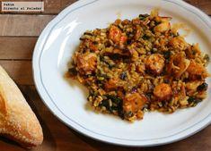 Arroz con pulpo y algas wakame, la receta para sorprender a todos Alga Wakame, Fried Rice, Risotto, Salad Recipes, Pasta, Food Porn, Favorite Recipes, Meat, Chicken