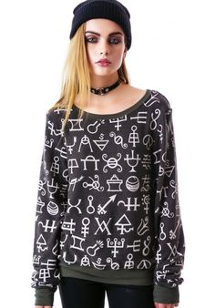 Wildfox Couture Speaking Witchcraft Vintage Varsity Baggy Beach Jumper | Dolls Kill