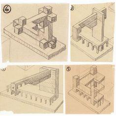 Maurits Cornelis Escher Escher Drawings, Impossible Shapes, Mc Escher, Geometry Art, Art Club, Low Poly, Optical Illusions, Fantasy Art, Art Photography