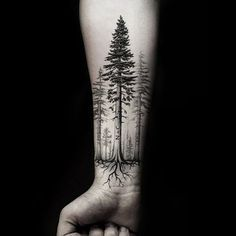 Mountain Sleeve Tattoo, Family Sleeve Tattoo, Forest Tattoo Sleeve, Forest Forearm Tattoo, Nature Tattoo Sleeve, Half Sleeve Tattoos For Guys, Cool Forearm Tattoos, Forearm Tattoo Design, Arm Sleeve Tattoos