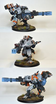 Another nice miniature paint job.  Tau (old) broadside, (great color scheme too)