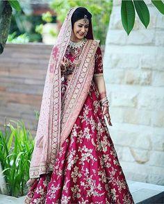 This Pretty Lehenga! Vendor Unknown  #bride #wedding #indianwedding #love #happiness #smile #weddingplz #royal #photooftheday #instabride #oots #makeup #yoursinweddings #instaweddings #makeupartist #instamood #jewellery #lehenga #royal